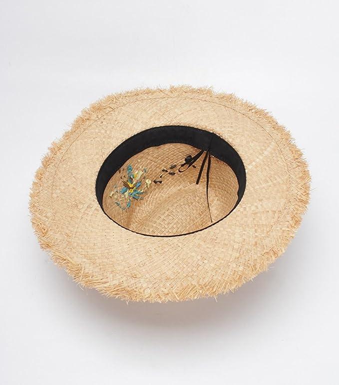 LINNUO Sombrero de Jazz Playa Paja Panama Estilo Británico Deporte al Aire  Libre Gorro del Sol Sombrero Modelos de Pareja  Amazon.es  Ropa y accesorios 1f52d5d4148