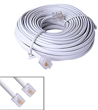 amazon com 10m 40ft rj11 6p4c modular telephone phone cables wire Telephone Plug Wiring Diagram