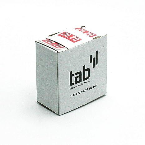 Amazon.com: Tab 2 dígitos Año etiqueta, 1/2
