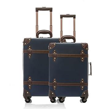 ac18b292c Amazon.com | UNIWALKER Vintage Suitcase ABS Rolling Luggage with TSA Lock  (20