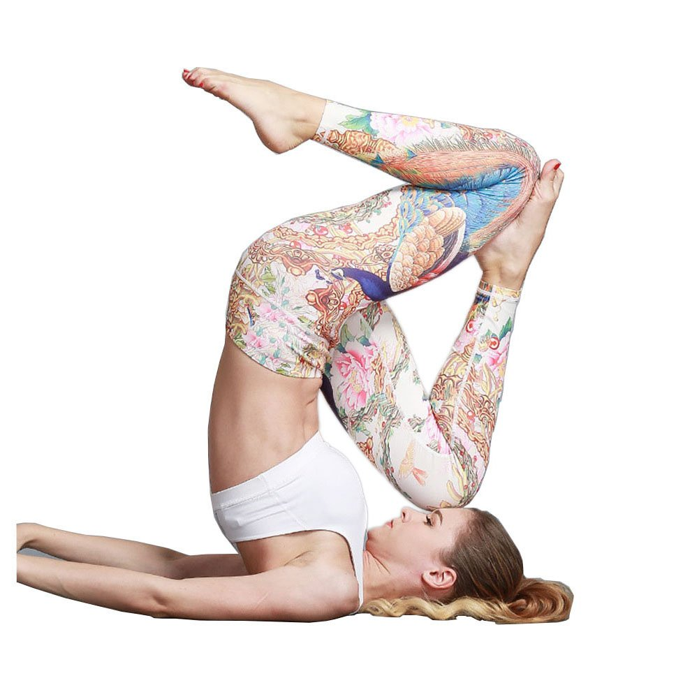 813546261eb7b Amazon.com: Befullo Women's Yoga Pants Capri Legging Workout Gym Tights:  Clothing