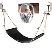 Auoinge Desk Hammock with Headphone Holder, Updated Foot Hammock Portable Durable Foot Rest with Adjustable Screw in…
