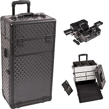 Amazon.com : Sunrise I3662DMAB Black Diamond Trolley Makeup Case : Makeup Train Cases : Beauty