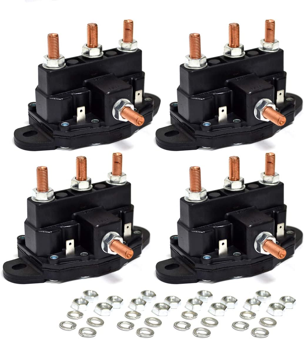 Car 12V Electrical Winch Motor Reversing Solenoid Contactor Relay w// 6 Terminals