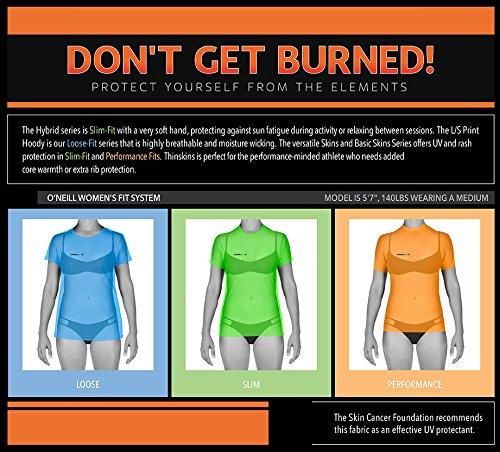 O'Neill Wetsuits UV Sun Protection Womens Basic Skins Short Sleeve Crew Sun Shirt Rash Guard