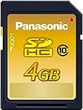Panasonic 4GB SDHCメモリーカード CLASS10 RP-SDWA04GJK
