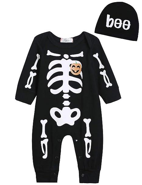 971301063412 Amazon.com  Singcoco Halloween Baby Boys Girls Skull Costume Romper ...