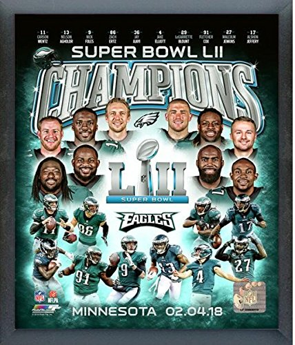 Philadelphia Eagles Framed Wall - Philadelphia Eagles Super Bowl LII Team Composite Photo (Size: 17