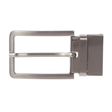 a43d68a83 1 3 8 Inch (35 mm) Silver Reversible Clamp Belt Buckle
