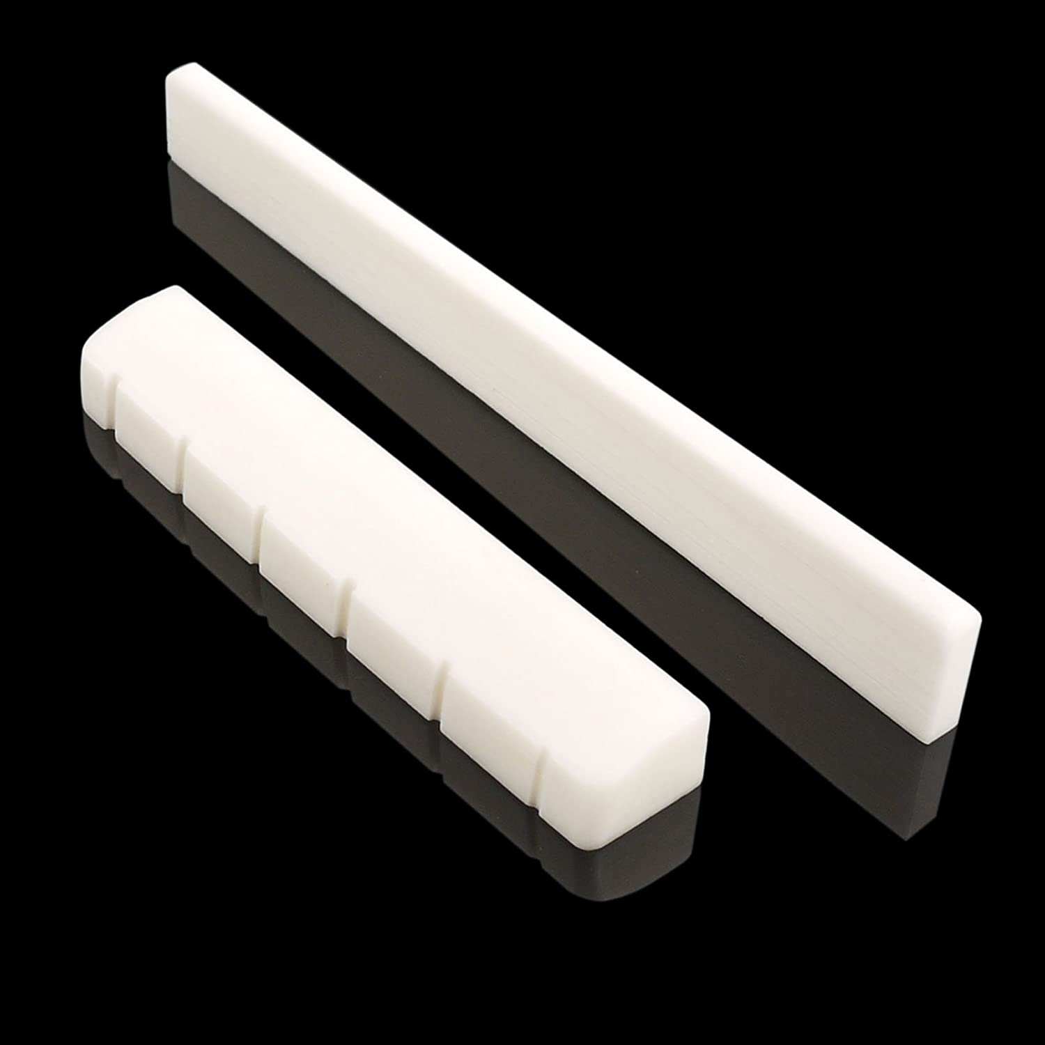 For Acoustic Mr.Power 6 Strings Guitar Bone Bridge Saddle and Nut Made of Real Bone