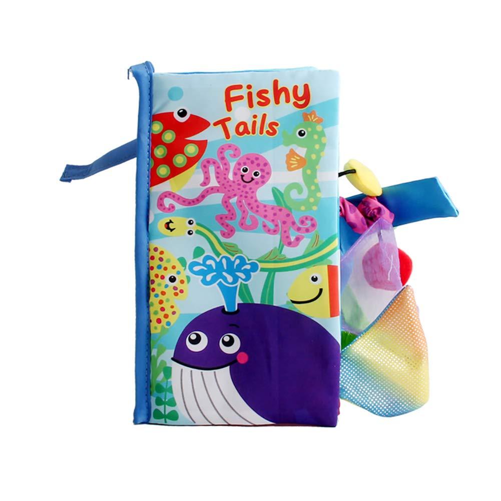 Tissu environnemental livres anglais sur les animaux de mer pour b/éb/é /éducation pr/écoce 1PC