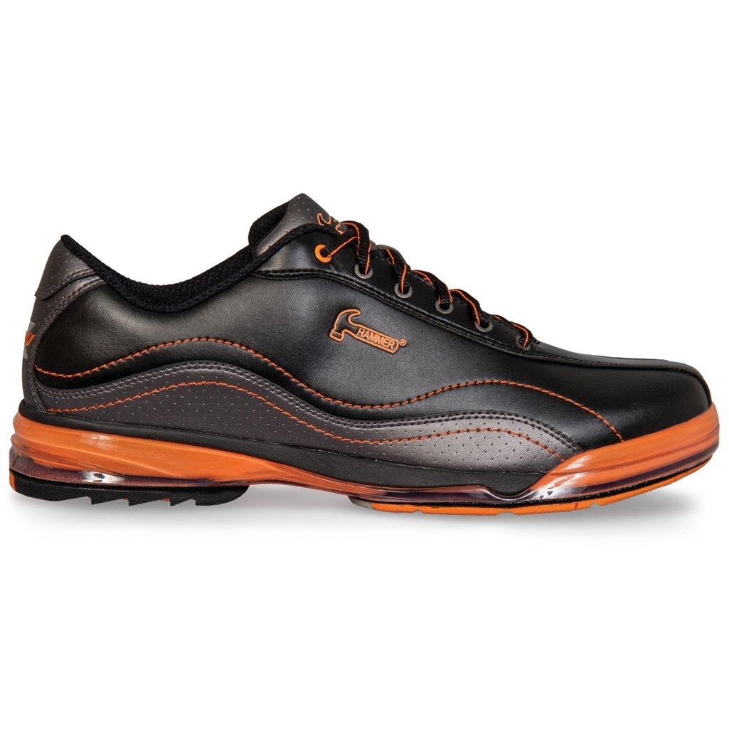 KR Strikeforce Hammer Force Men's Bowling Shoes, Black/Carbon/Orange, Left, 10.5