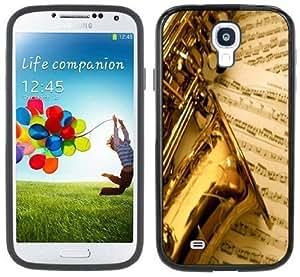 Saxophone Music Handmade Samsung Galaxy S4 Black Bumper Hard Plastic Case