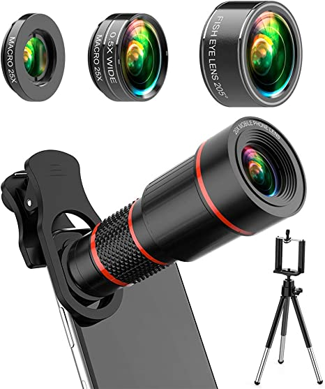 youbegou 4K HD Phone Camera Lens Kit 10 in 1 for iPhone Samsung ...