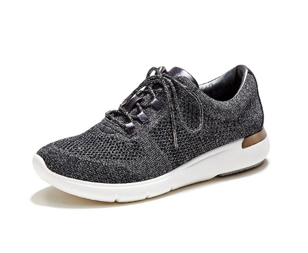 XIE Zapatillas con Cordones Planos Zapatillas Ocasionales Zapatillas de Deporte de Gran Tamaño Zapatillas de Running Summer Spring Autumn 35-40, Dark Gray, 35 35|dark gray