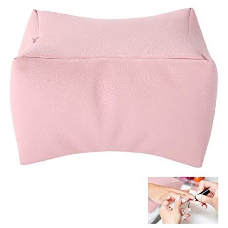 Hand Cushion Pillow, Manicure Hand Rest Washable Nail Art Design Salon Beauty Accessory Soft PU Arm Rest Nail Care Pad(Pink)
