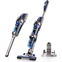 HoLife 380W High-Power Cordless Stick Vacuum Cleaner with 2500mAh Li-ion Rechargeable Battery