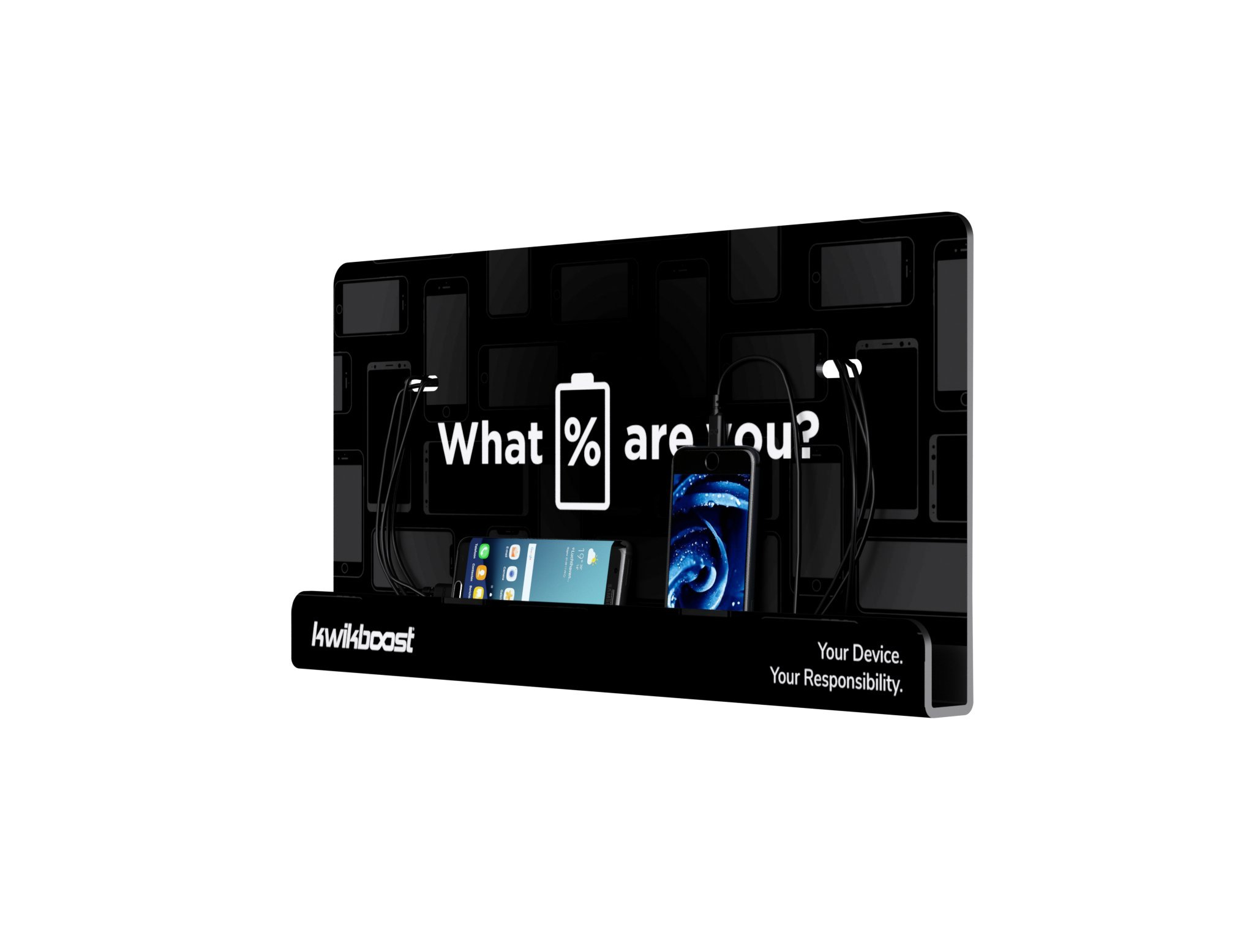 Wall Mount Cell Phone Charging Station by KwikBoost, Multi-Device Charging for up to 8 Devices including iPhone, iPad, Samsung, Tablets, and more. Great for School, Office, Business. and Events. by KwikBoost (Image #3)