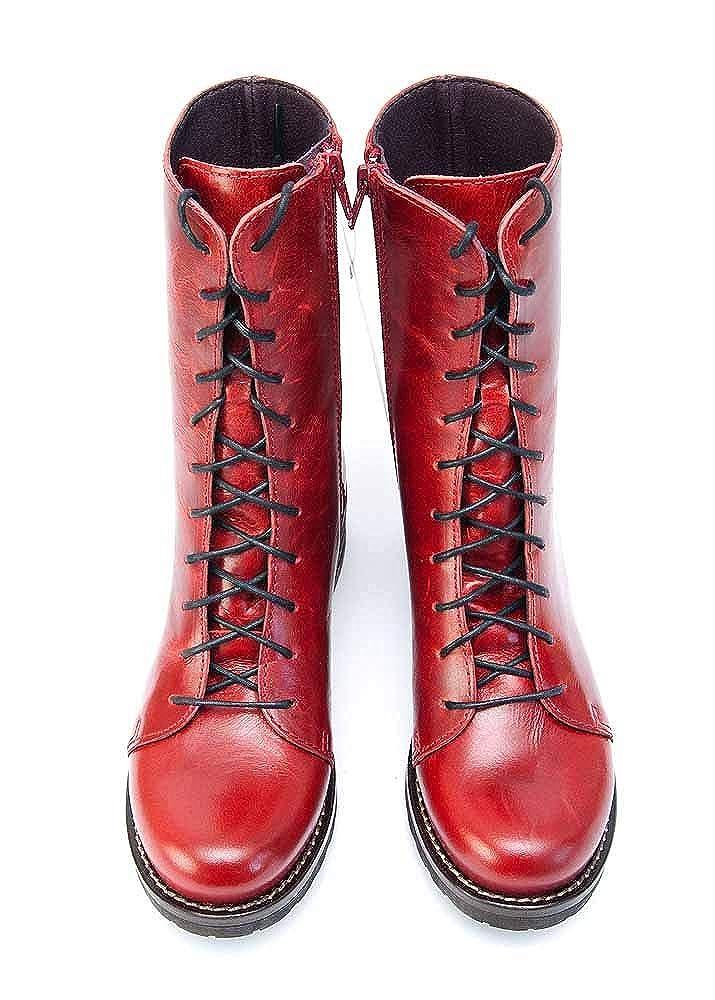 Brako Stiefel Stiefel Stiefel Stiefel 8470 Bolero rot Military Leder Rot m. Reißverschluss fcf373