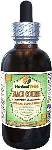 Black Cohosh Cimicifuga Racemosa Glycerite, Organic Dried Root Alcohol-Free Liquid Extract 2 oz