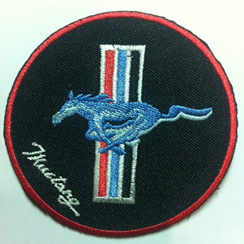 Ford Mustang Logo Iron On Embroidered Sew On Patch For T Shirt Polo jacket Bag Gap Hat