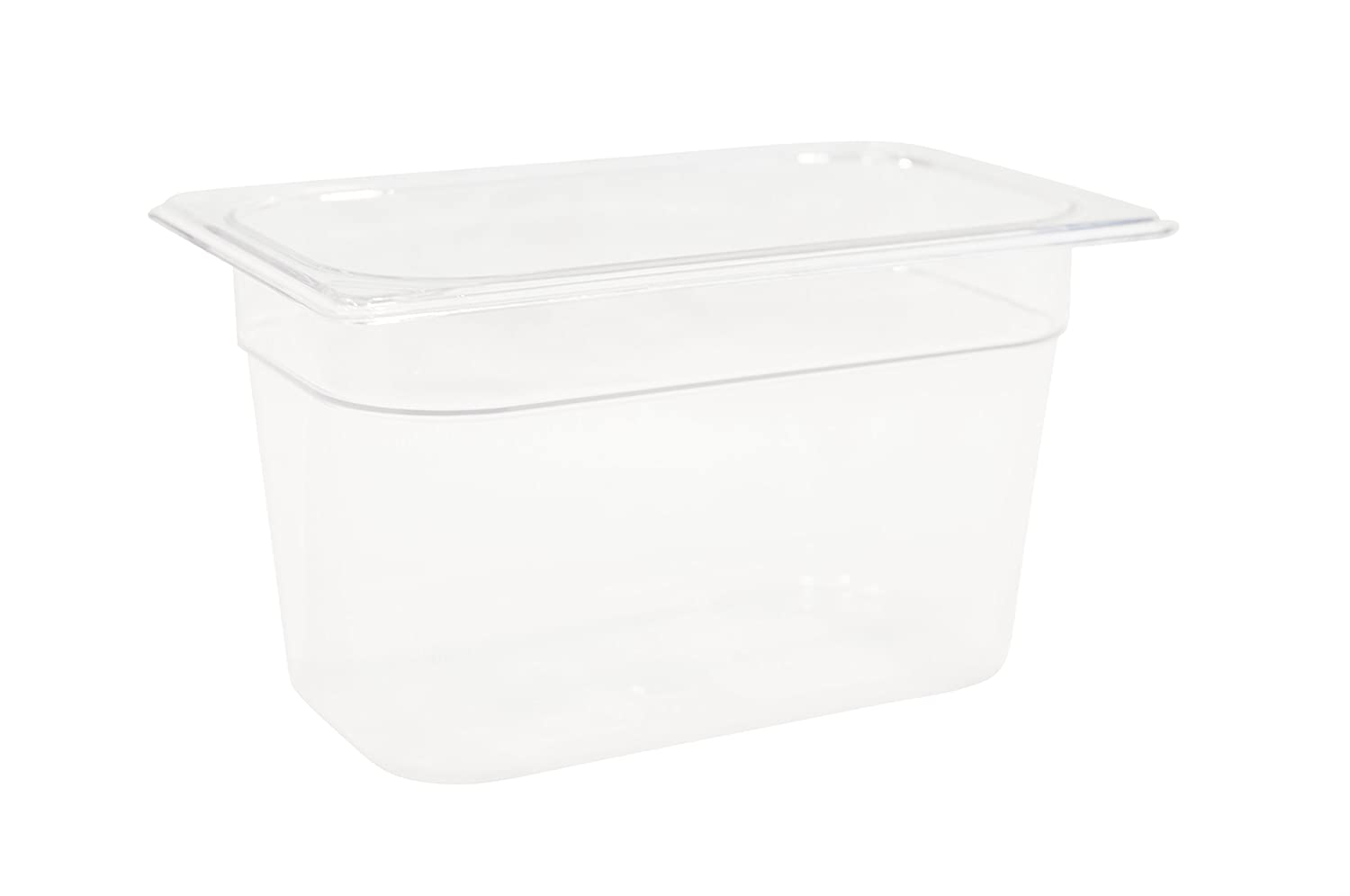 Rubbermaid Commercial Products Cold Food Insert Pan for Restaurants/Kitchens/Cafeterias, 1/4 Size, 6 Inches Deep, Clear (FG112P00CLR)