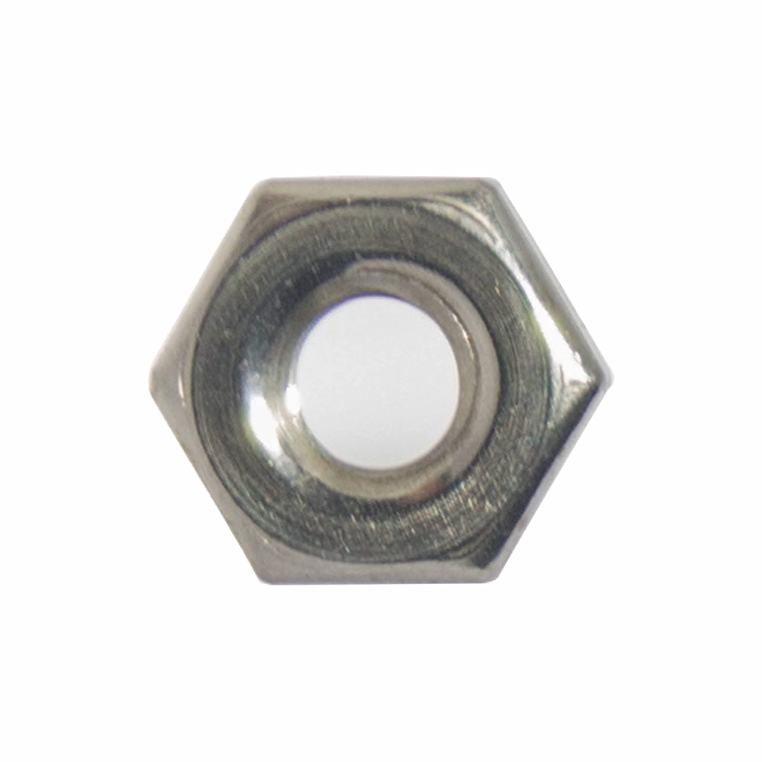 6-32 Machine Screw Hex Nuts Bright Finish Quantity 100 By Fastenere Stainless Steel 18-8