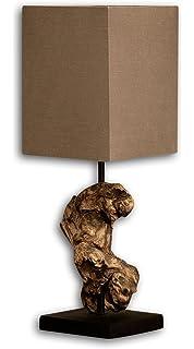 Design Treibholz Lampe Hypnotic Beige Tischlampe In Handarbeit