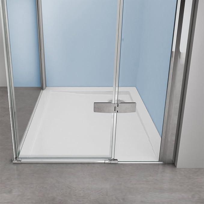 TBH: 70 x 140 x 195 cm Mampara de ducha cabina manhattan05 K, 8 mm ...