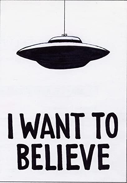 002 X Files I Want To Believe 14x20 Inch Silk Poster Aka Wallpaper Wall Decor By