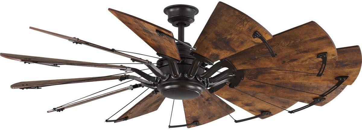 Springer Collection 60 Inch 12 Blade Distressed Walnut Coastal Windmill Ceiling Fan Amazon Com
