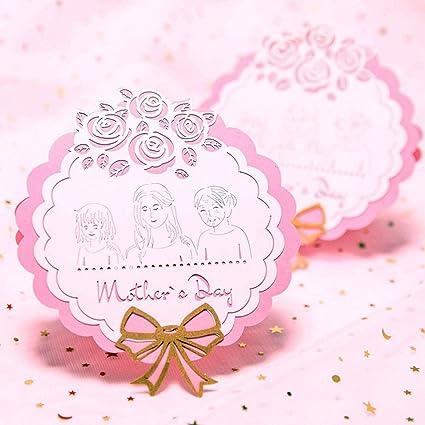 Tarjeta de felicitación para el día de la madre, tarjeta ...