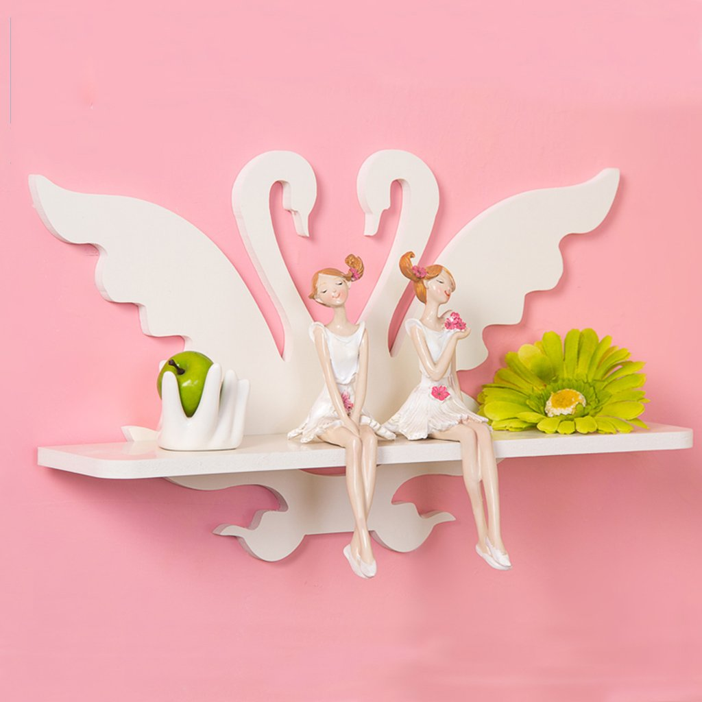 Shelf Floating Shelves Wall Creative Little Swan Living Room TV Background Wall shelflength 15.7 Width 3.7 Height 9.4 inches