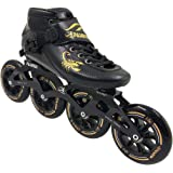 PASENDI Professional Carbon Fiber Speed Skates Adult Men's and Women's Skates 4-Wheels Single-Row Roller Skates Shoes Black Inline Skate Shoes