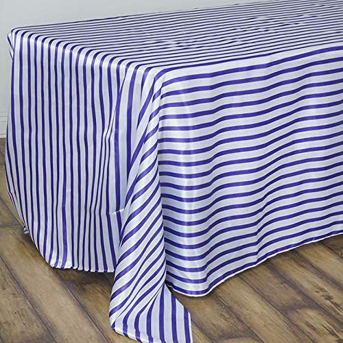 - Mikash Satin Stripes 90x156 Rectangular Tablecloth - Wedding Party Decorations Sale | Model WDDNGDCRTN - 17664 |