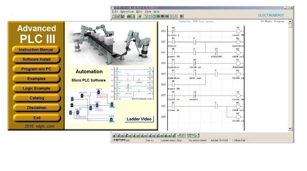 Plc Programming Software With Ladder Logic And Function Diagram Amazon Com Industrial Scientific