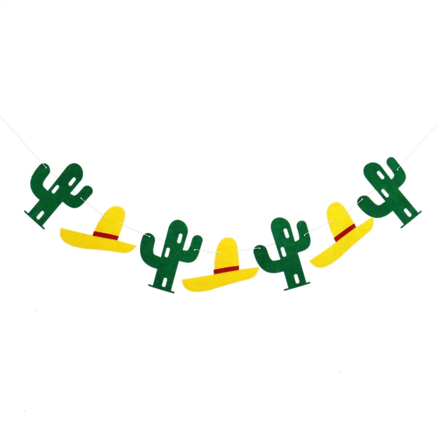 Buorsa 2 Sets Cactus Banners Decoration Summer Luau Hawaii Party Supplies Non-Woven Fabric Garland Banner for Luau Hawaii Birthday Party Festival Decoration