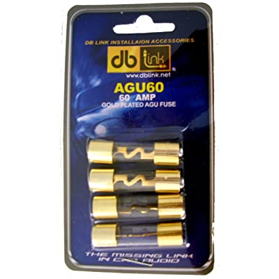 DB Link AGU60 60 Amp Gold AGU Fuses - Pack of 4: Car Electronics