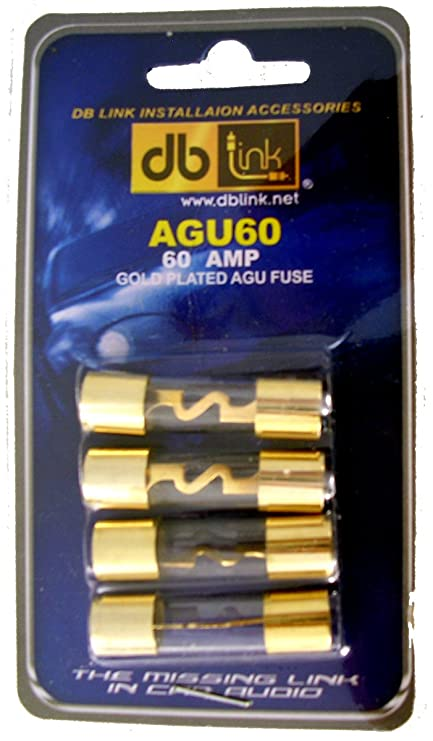 61PD3HgP6uL._SY741_ amazon com db link agu60 60 amp gold agu fuses pack of 4 car