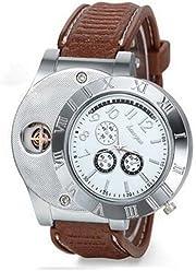 e6f6e3ecfd Colofan C07 スポーティー ライター 腕時計 充電式 防風 無炎 ライターと時計2用機能