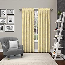 """Pairs to Go Eclipse 15614056X084YEL Pinkney Window Curtains (2 Pack), 56"""" x 84"""", Yellow"""