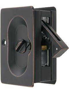 Emtek Pocket Door Privacy Lock Set, Oil Rubbed Bronze