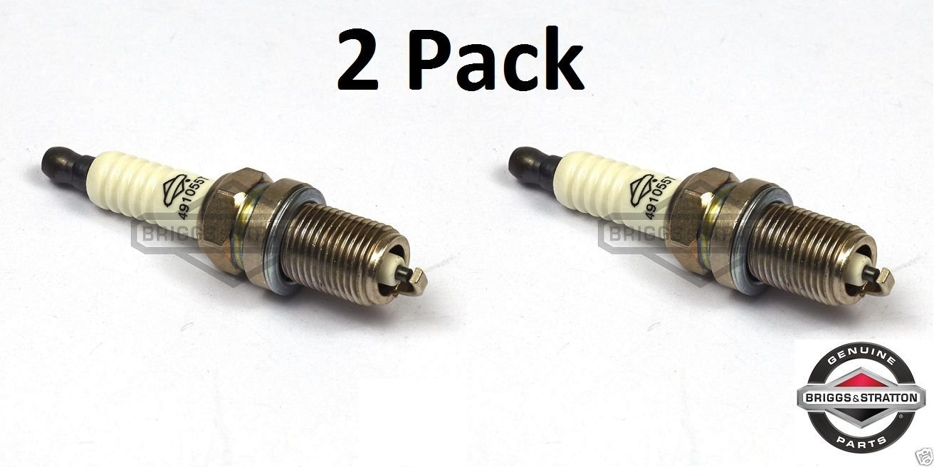 Briggs & Stratton 491055-2pk Spark Plug (2 Pack) Replaces 805015/72347/491055/Champion RC12Y
