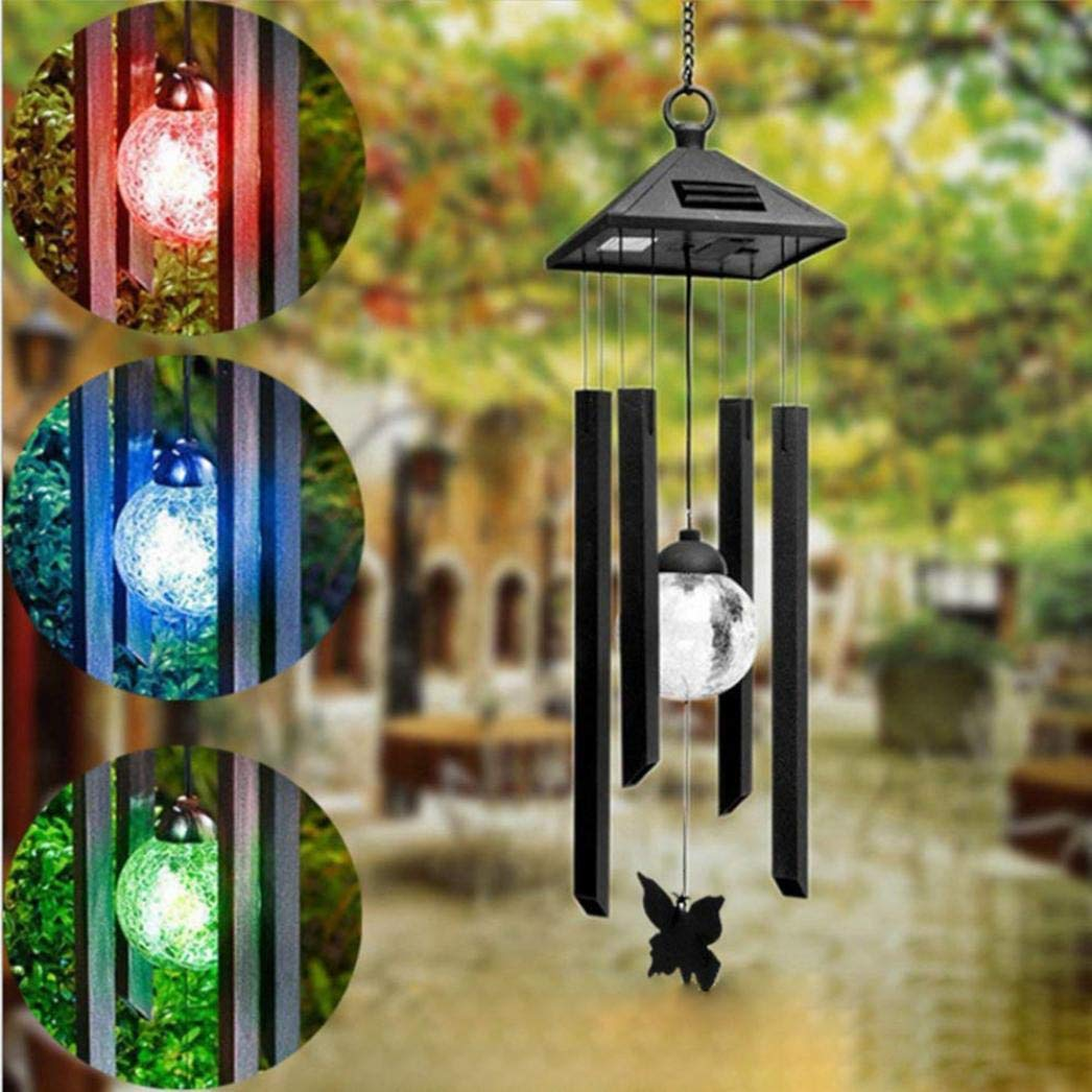 Ikevan Solar Wind Chimes Light Changing LED Wind Chime Garden Decoration by Ikevan_ String Lights (Image #2)