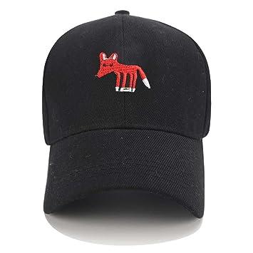 QETUOAD Snapback Trucker Caps Fox Dad Sombreros para Hombres Gorra de béisbol Mujeres Animal Cartoon Bordado