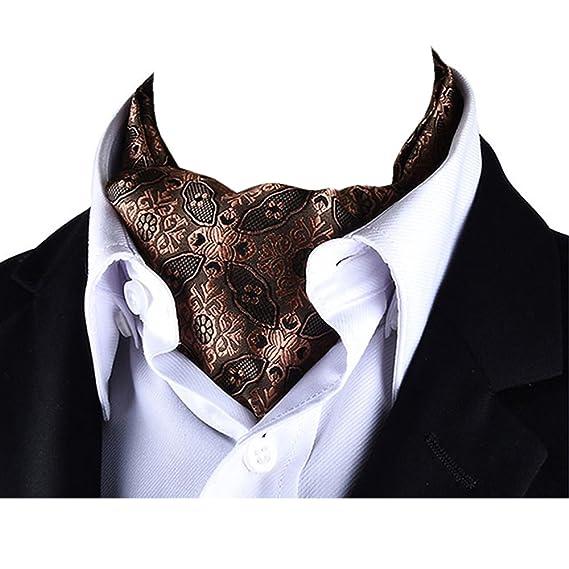 YCHENG Pañuelo Hombre Jacquard Ascot Paisley Corbatas Vintage Cravat Bufanda Banquete Fiesta Xt1Yhv