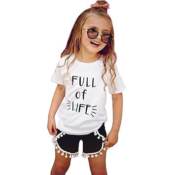 eed88acf6bd2a6 Domybest子供服 女の子 セットアップ キッズ服 キッズTシャツ 半袖Tシャツ+ショートパンツ
