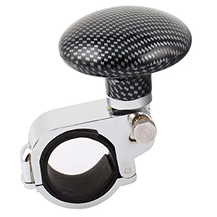 AutoBoy Black Ball Car Steering Wheel Spinner Knob Power Handle Assist Ball Knob Fit For Car Vehicle