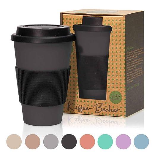 Taza de café de 450 ml/Taza de café para llevar hecha de bambú con ...