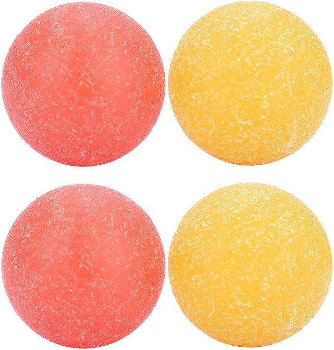 SolUptanisu Pelota de Futbol de Mesa, 4Pcs 36 mm Mini Balón de Fútbol de Mesa Superficie Rugosa Bolas de Reemplazo de Futbolín Plástico Pelotas de Futbolin para Infantil Niños,Naranja + Rojo: Amazon.es: